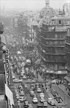 Vue d'ensemble de la rue Réaumur à Paris en 1958