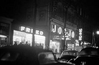 La rue Poissonnière à Paris en 1958