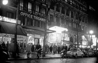 Le boulevard des Italiens à Paris en 1958