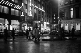 Rue Louis le Grand à Paris, 1958