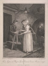 'Knives Scissars and Razors to Grind', Cries of London, c1795. Artist: Vogel