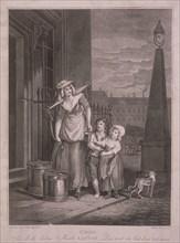 'Milk below Maids', Cries of London, c1795. Artist: Luigi Schiavonetti