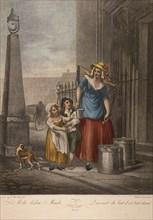 'Milk below Maids', Cries of London, c1870. Artist: Anon
