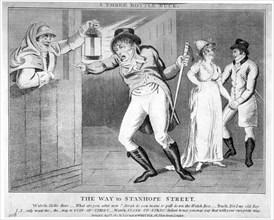 'A three bottle buck. The way to Stanhope Street', 1803. Artist: Anon