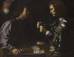 The Gamblers', or 'Card Players, painting by Antiveduto Grammatica in Apsley House, London