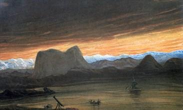 Total solar eclipse, 1851 (1857). Artist: Anon