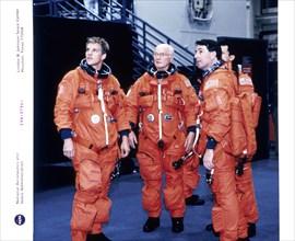 John H Glenn and crew members, June 1998. Artist: Unknown