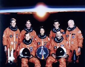 John Glenn and crew, June 1998. Artist: Unknown