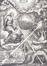 Frontispiece from Athanasius Kircher's Ars Magna Lucis Et Umbrae. Artist: Unknown
