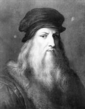 Leonardo da Vinci, Italian artist, engineer, scientist and inventor, 1864. Artist: Unknown