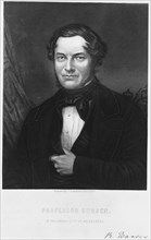 Robert Bunsen, German chemist, 1850s. Artist: C Cook