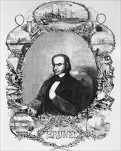 Isambard Kingdom Brunel, civil engineer, c1850s. Artist: Unknown