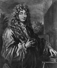 Christiaan Huygens, Dutch physicist, c1670. Artist: Unknown