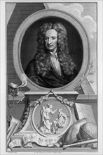 Sir Isaac Newton, English scientist and mathematician, c1700. Artist: Jacobus Houbraken