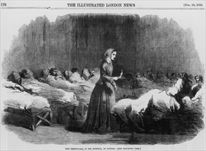 Florence Nightingale, English nurse and hospital reformer, 1855. Artist: Unknown