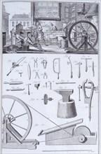 Cutlery-making, c1750s. Artist: Unknown