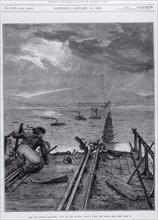 Tay Bridge disaster, Scotland, 28 December 1879. Artist: Frank Dadd Artist: Unknown