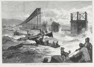 Tay Bridge disaster, Scotland, 28 December 1879. Artist: Unknown