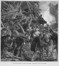 The Great Western Railway disaster at Thorpe near Norwich, 10 September 1874. Artist: Unknown
