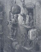 'Warehousing in the City', 1872. Artist: Adolphe François Pannemaker