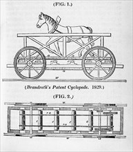 Brandreth's horse powered locomotive 'Cycloped', 1829. Artist: Unknown
