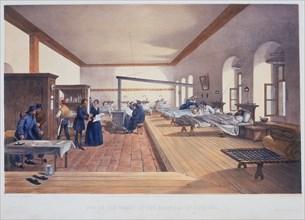 Hospital ward, Scutari, Turkey, 1856. Artist: E Walker