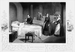 Florence Nightingale in the hospital at Scutari, c1860. Artist: Anon