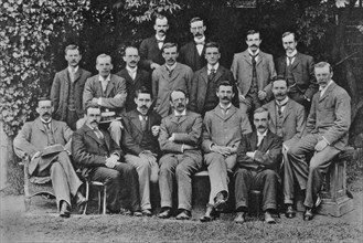 JJ Thomson, British nuclear physicist, 1898. Artist: Unknown