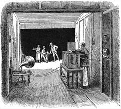 Thomas Edison's Kinetographic Theatre, c1891. Artist: Unknown