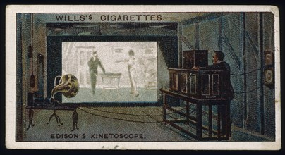 Thomas Alva Edison's kinetographic theatre, c1892. Artist: Unknown
