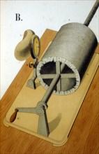 Thomas Alva Edison's first Phonograph, 1878. Artist: Unknown