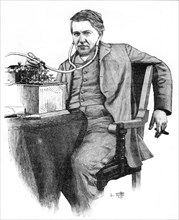 Thomas Alva Edison, American inventor, c1906. Artist: Unknown
