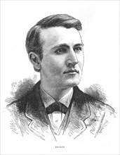 Thomas Alva Edison, American inventor, c1879. Artist: Unknown