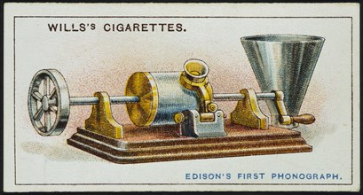 Thomas Alva Edison's first Phonograph, 1878 (1915). Artist: Unknown