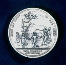 Medal commemorating the discovery of smallpox vaccination in 1796 (1800). Artist: Unknown