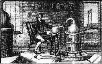 Antoine Laurent Lavoisier, 18th century French chemist, in his laboratory, 1814. Artist: Unknown