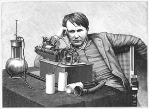 Thomas Alva Edison, 1888. Artist: Anon