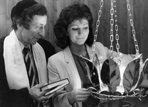 Consecration of a new Ner Tamid at Kingston Liberal Synagogue, 1985. Artist: Unknown