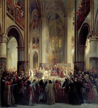 'States General of Paris, 1328', mid 19th century.  Artist: Jean Alaux