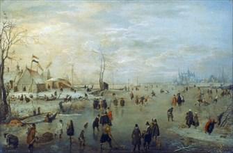 'Winter Landscape', 1630-1634. Artist: Hendrick Avercamp