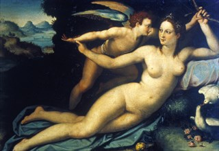 'Venus and Cupid', mid 16th century. Artist: Agnolo Bronzino