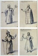 Costume design for classical figures, 16th century. Artist: Giuseppe Arcimboldi
