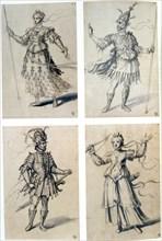 Costume designs for classical deities, 16th century. Artist: Giuseppe Arcimboldi