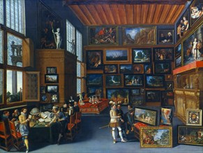 'Cognoscenti in a Room hung with Pictures', c1620. Artist: Anon
