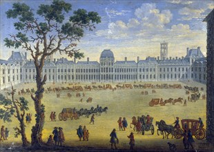'Imaginary View of the Tuileries', 17th century. Artist: Anon