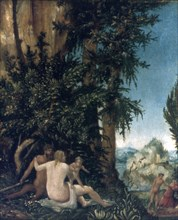 'Landscape with family of Satyrs', 1507. Artist: Albrecht Altdorfer