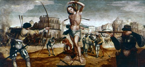 'The Martyrdom of St Sebastian', 16th century. Artist: Gregorio Lopez