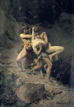 'A Rape in the Stone Age', 1888. Artist: Paul Joseph Jamin
