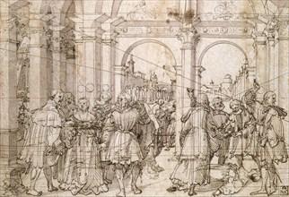 'The Suicide of Lucretia', early 16th century. Artist: Jorg Breu the Elder