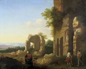 'The Departure of Abraham and Isaac', 17th century. Artist: Cornelis van Poelenburgh